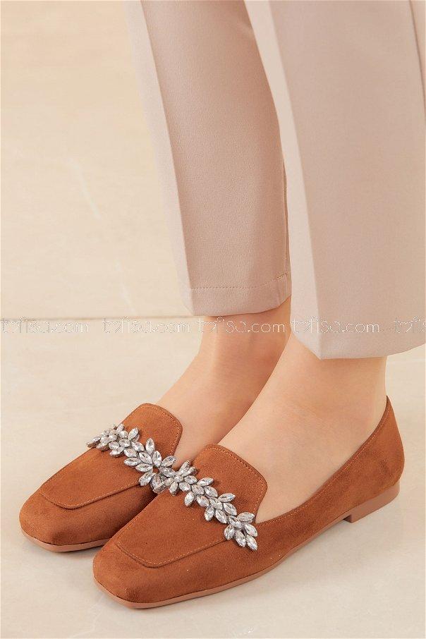 Taslı Babet Ayakkabı TABA - 20592