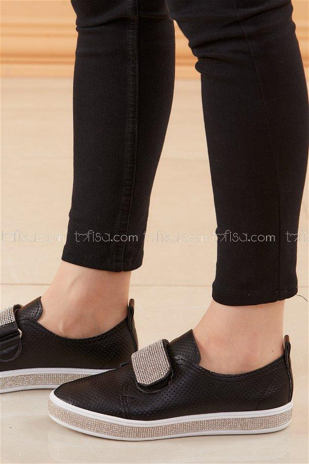 Taslı Cırtcırt Ayakkabı SIYAH - 20527