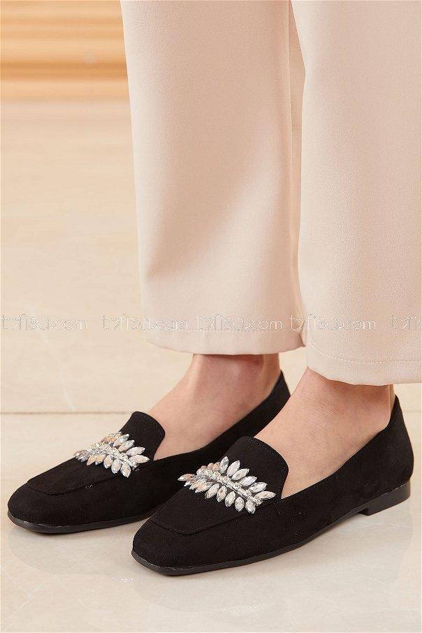 Taslı Suet Ayakkabı SIYAH - 20669