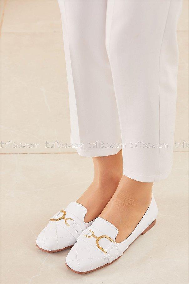 Tokalı Babet Ayakkabı BEYAZ - 20415