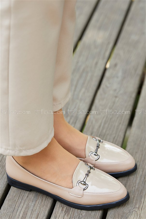 Tokalı Babet Ayakkabı PUDRA - 20395