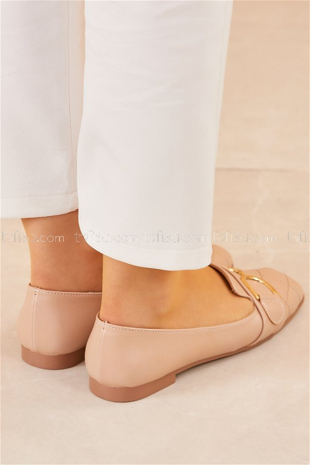 Tokalı Babet Ayakkabı PUDRA - 20415