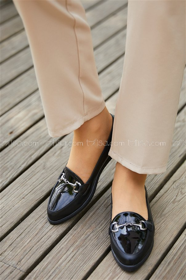 Tokalı Babet Ayakkabı SIYAH - 20395