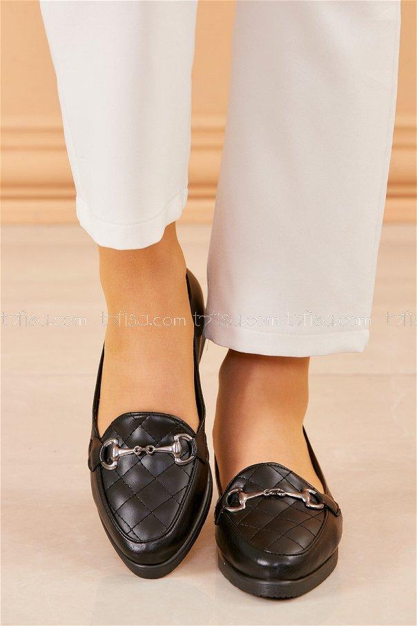Tokalı Babet Ayakkabı SIYAH - 20411