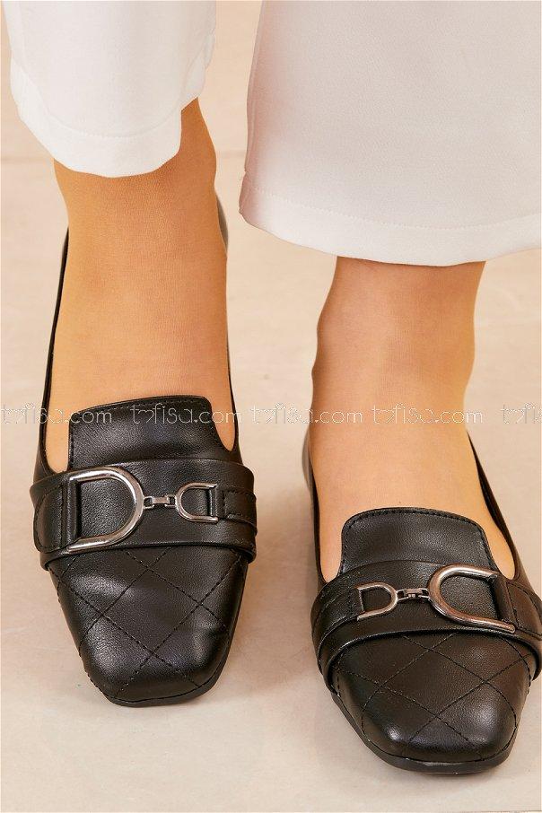 Tokalı Babet Ayakkabı SIYAH - 20415