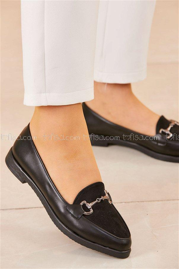 Tokalı Babet Ayakkabı SIYAH - 20419