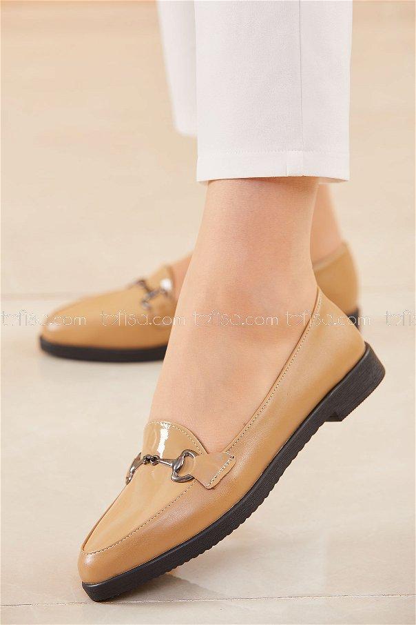 Tokalı Babet Ayakkabı VIZON - 20395