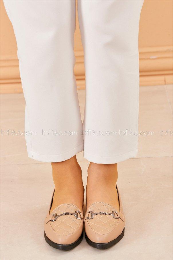 Tokalı Babet Ayakkabı VIZON - 20411
