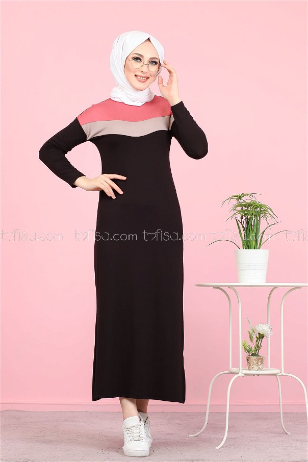 Topped Dress rose - 3081