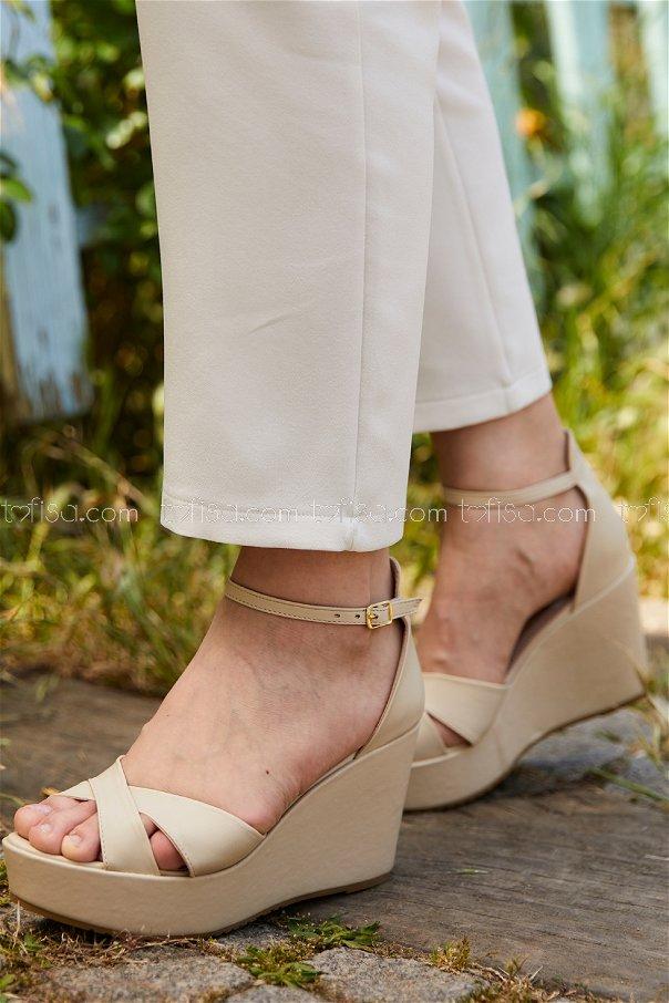 Topuklu Ayakkabı KREM - 20405