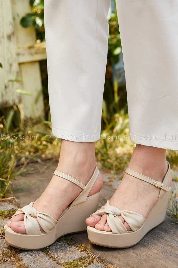 Topuklu Ayakkabı KREM - 20406