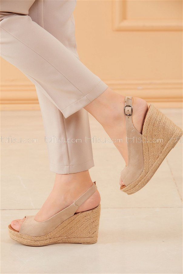 Topuklu Ayakkabı KREM - 20593