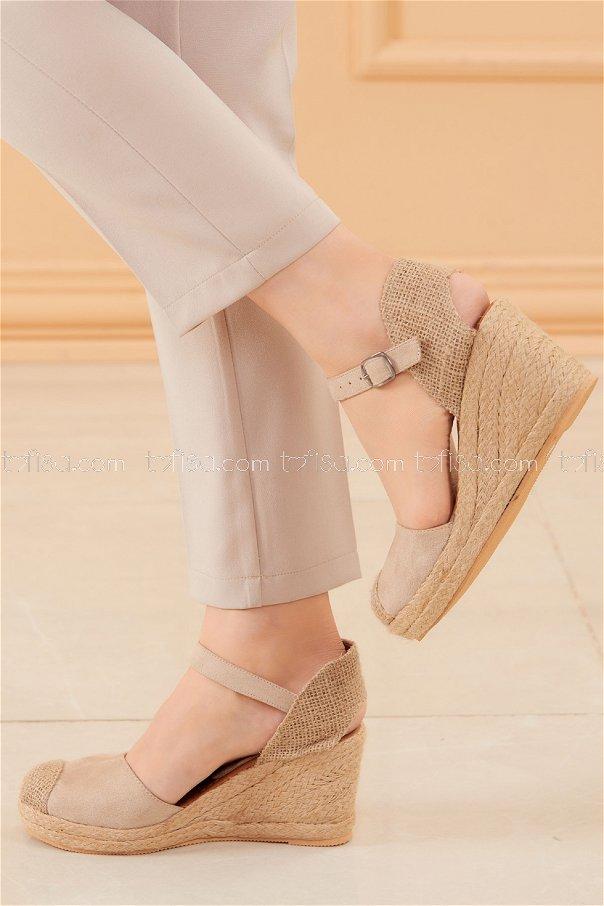 Topuklu Ayakkabı KREM - 20594