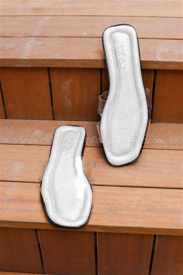 Transparent Hermes Slippers White - 0101