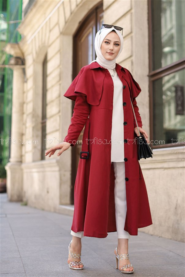 Trench Claret Red - 3056