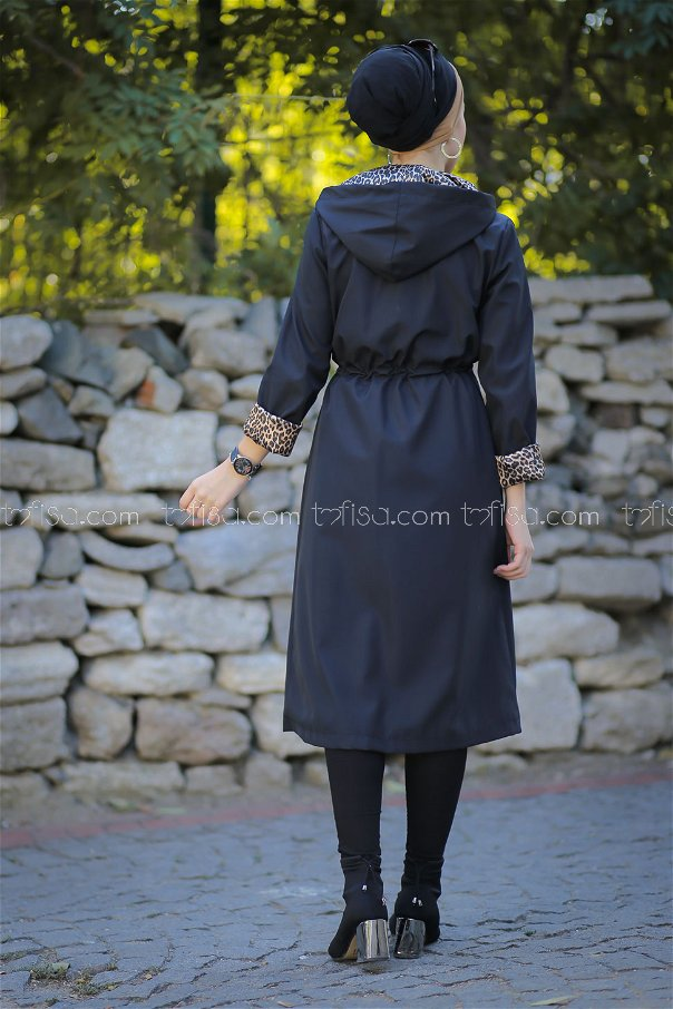 Trench Coat Lined black - 1297
