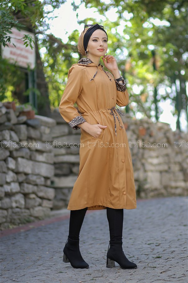 Trench Coat Lined Mustard - 1297