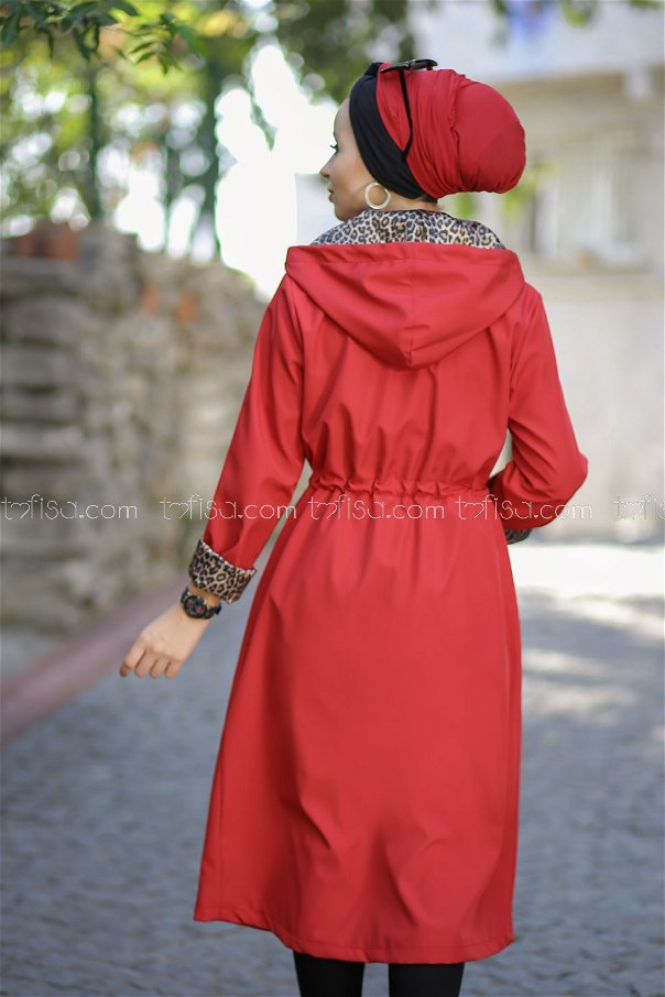 Trench Coat Lined red - 1297