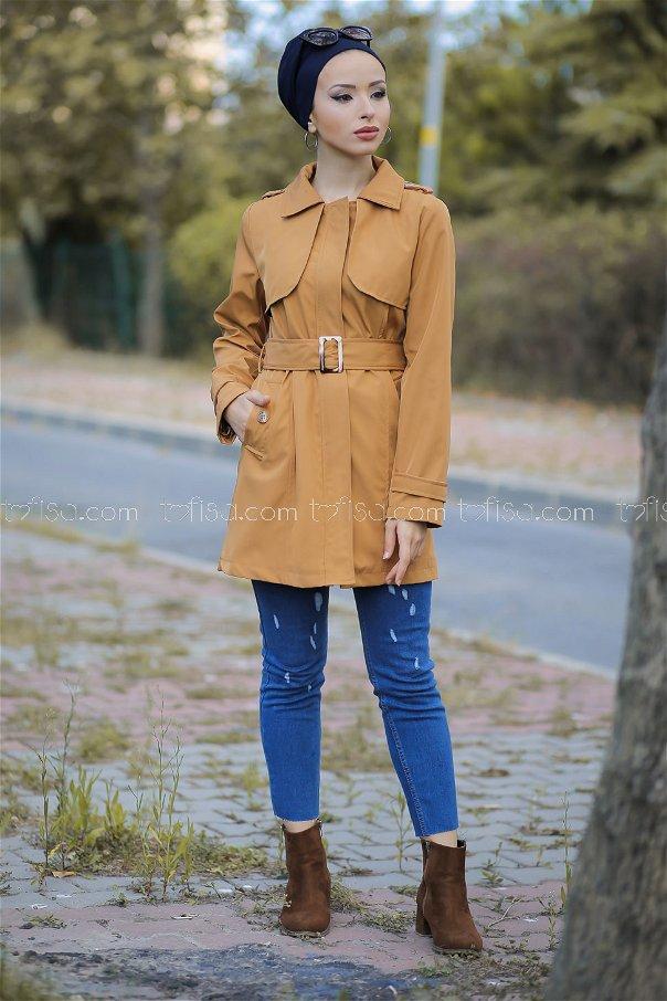 Trench Coat Lined saffron - 1294