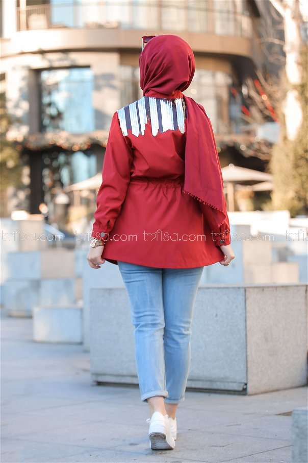 Trench Coat Scaly claret red - 02 1301