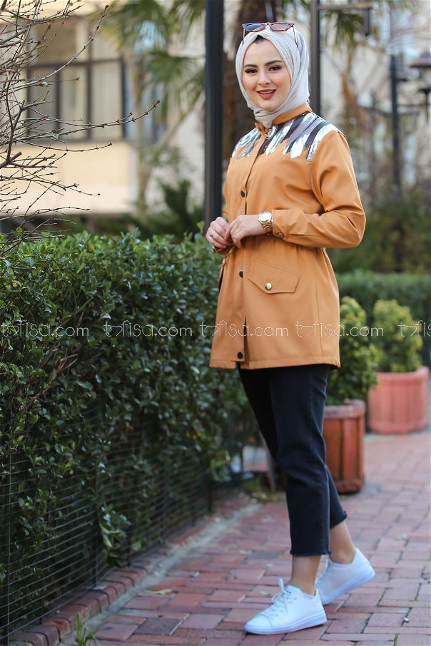 Trench Coat Scaly Mustard - 02 1301