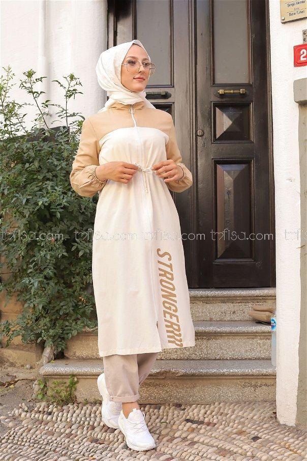 Trench Zippered Beige - 3069