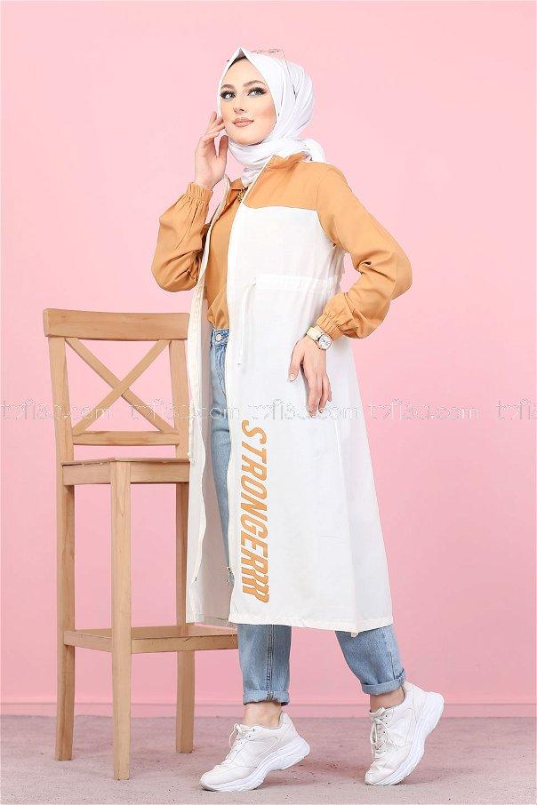 Trench Zippered Mustard - 3069