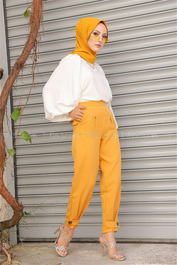 Trousers Mustard - 8563