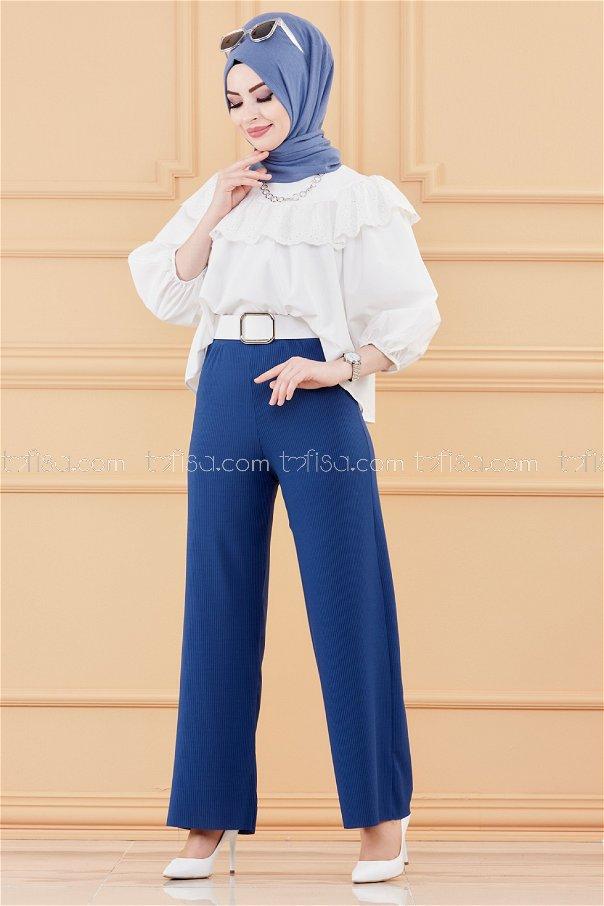 Trousers PETROLEUM - 3563