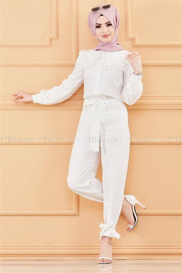 Trousers WHITE - 3524