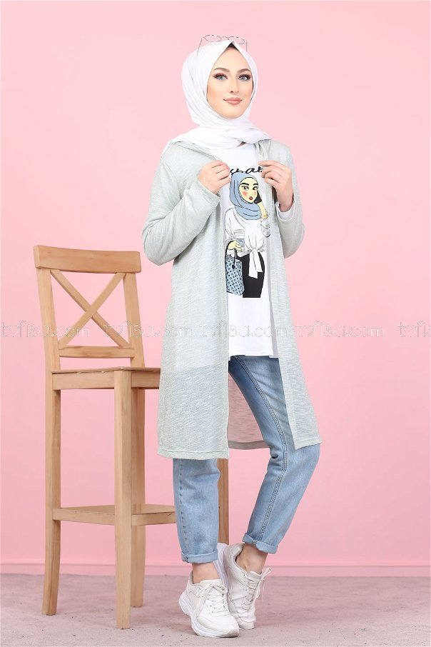 Tunic and Cardigan Mint - 3047