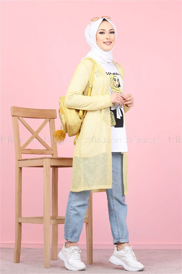 Tunic and Cardigan Yellow - 3047