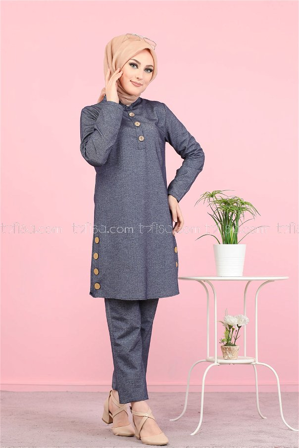 Tunic and Pants Anthracite - 3014