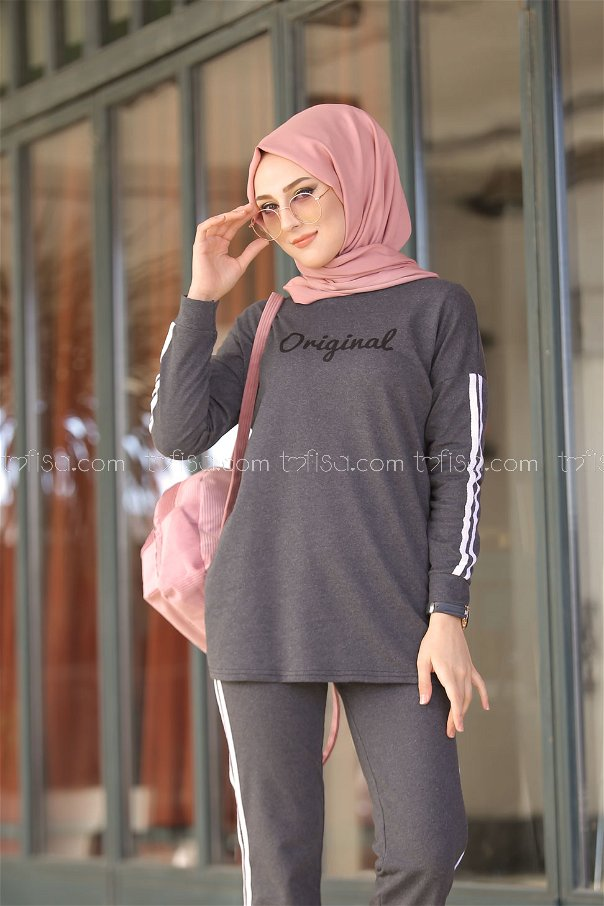 Tunic and Pants Anthracite - 8401