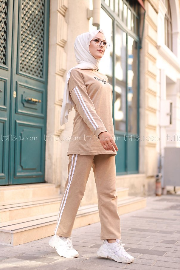 Tunic and Pants Beige - 8401