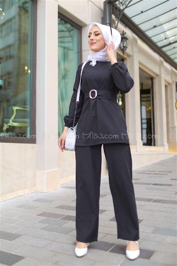 Tunic and Pants Black - 1366