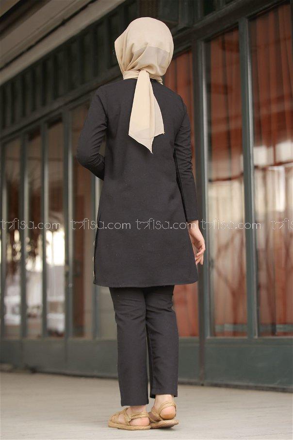 Tunic and Pants Black - 3014