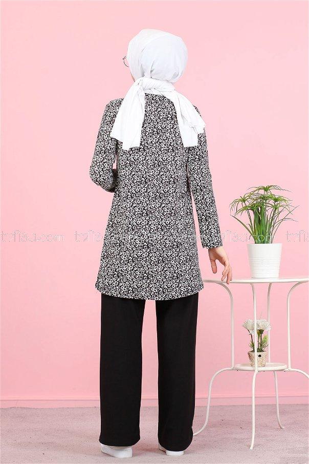 Tunic and Pants Black - 3073