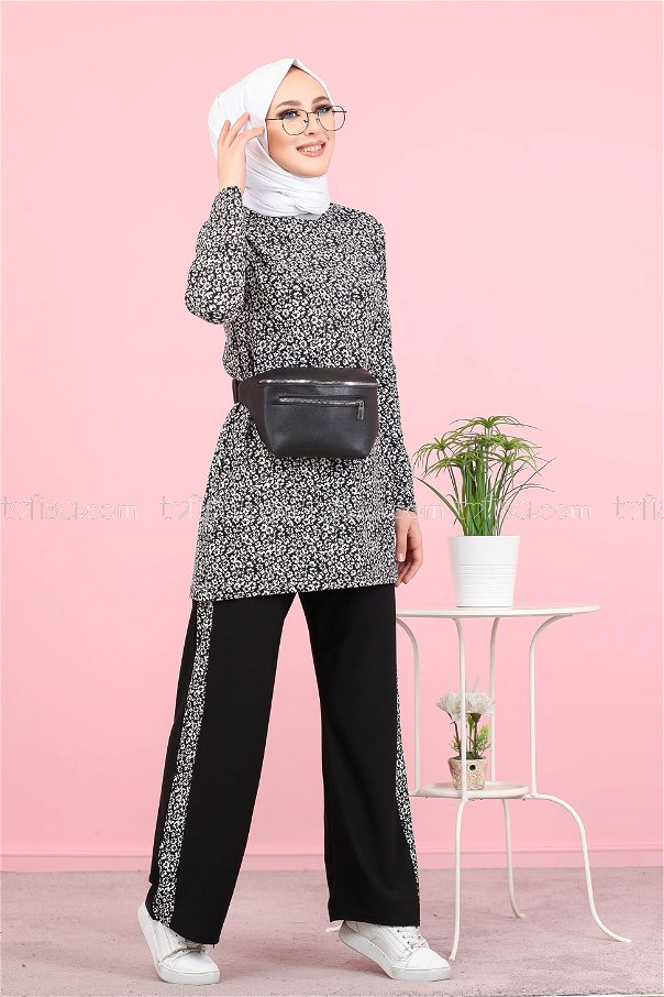 Tunic and Pants Black - 3073