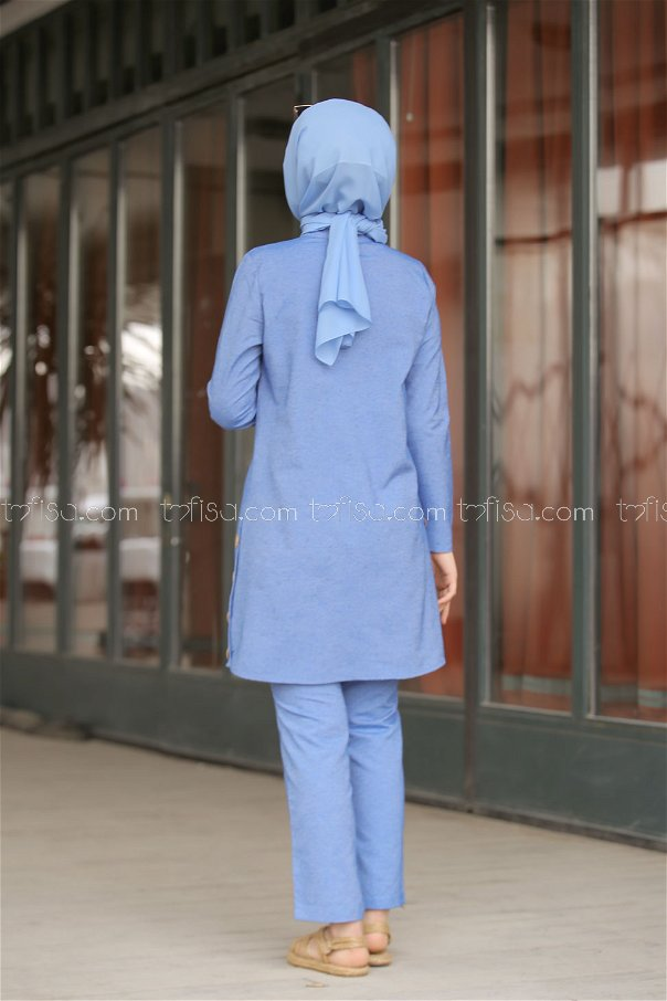 Tunic and Pants Blue - 3014