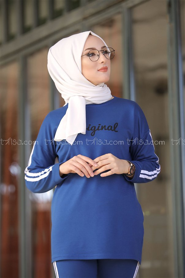 Tunic and Pants Blue - 8401