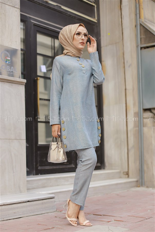 Tunic and Pants Blue - 8432