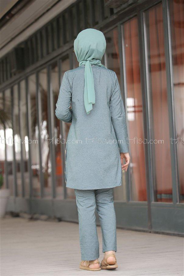 Tunic and Pants Green - 3014