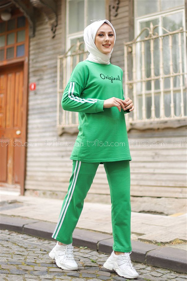 Tunic and Pants Green - 8401