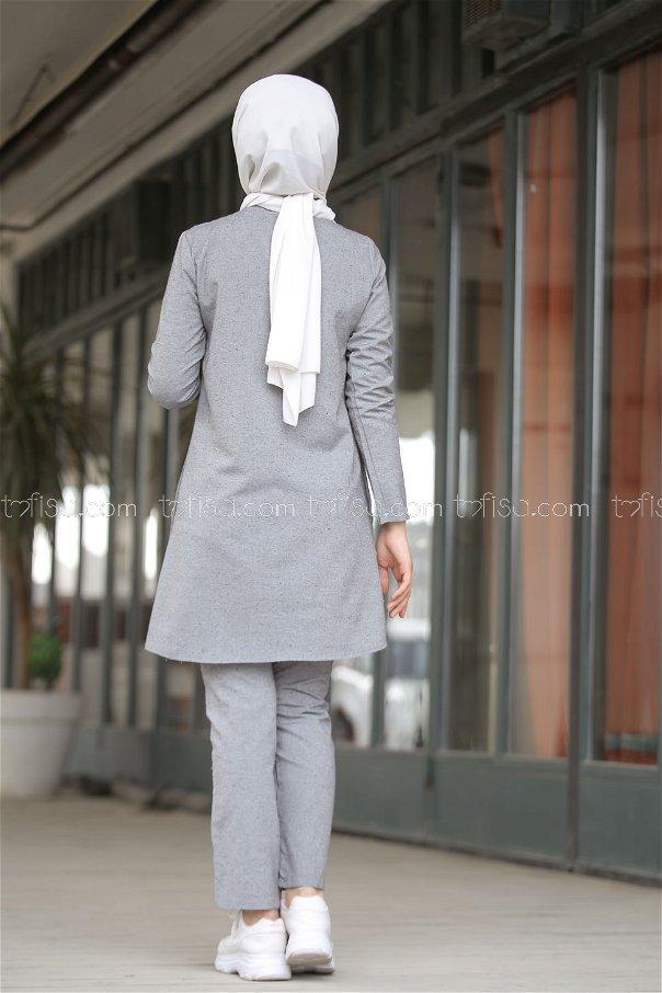 Tunic and Pants Grey - 3014