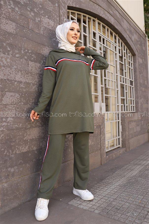 Tunic and Pants Khaki - 2796