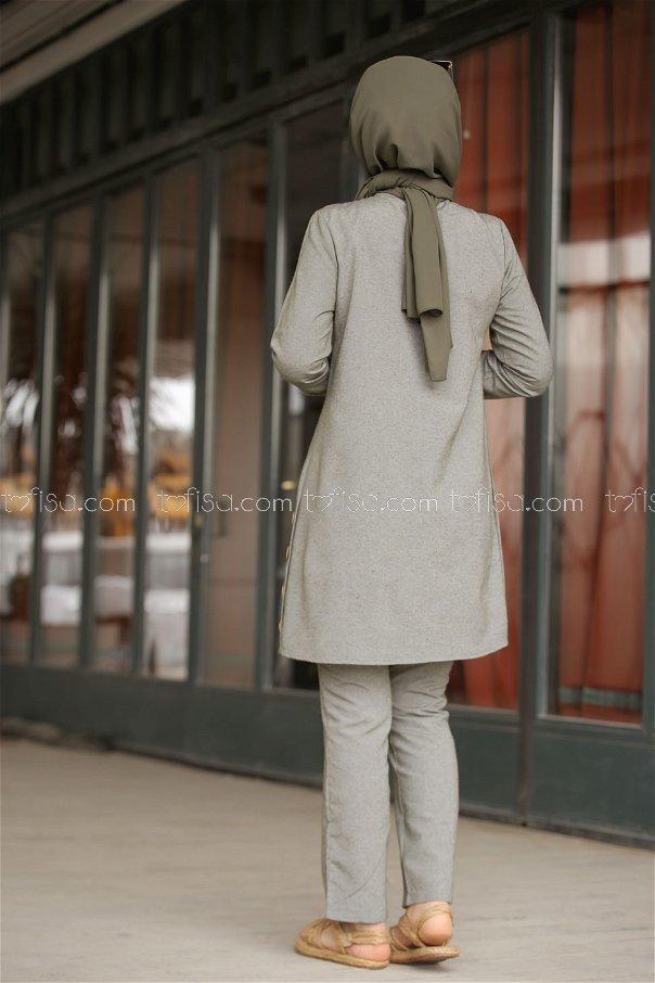 Tunic and Pants Khaki - 3014