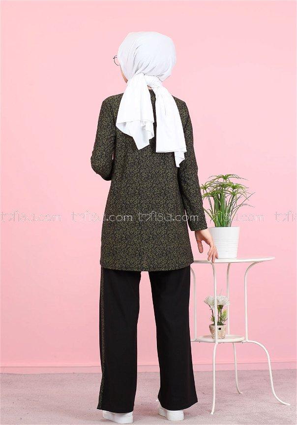 Tunic and Pants Khaki - 3073