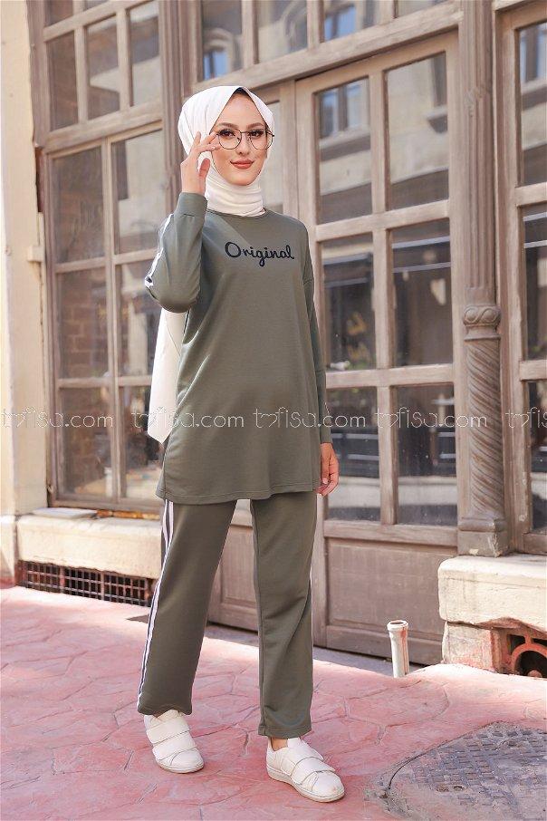 Tunic and Pants Khaki - 8401