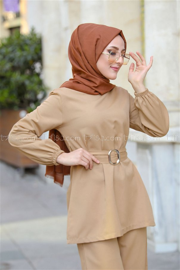 Tunic and Pants Mink - 1366